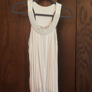 6 Degrees Tank with Beaded Neckline